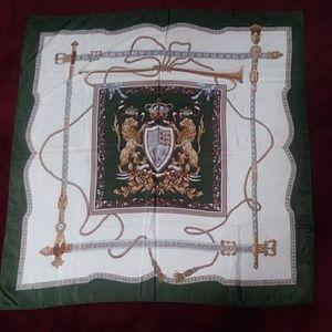 Vintage Lion Crest Silk Scarf